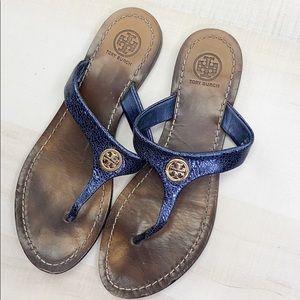 TORY BURCH Cameron Leather Thong Sandal